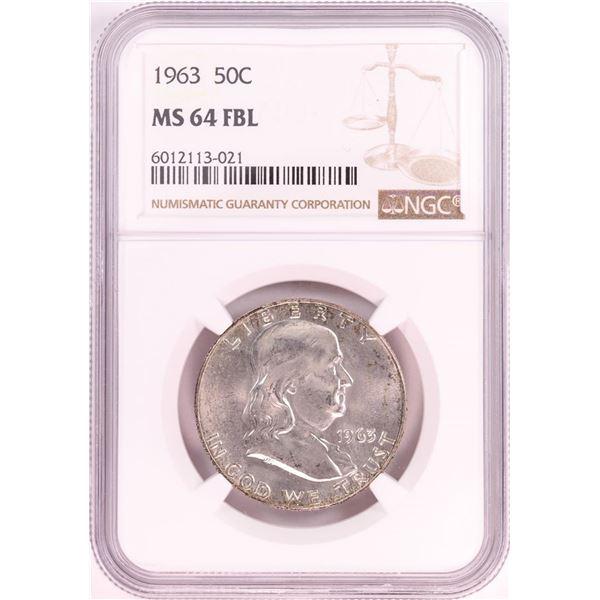 1963 Franklin Half Dollar Coin NGC MS64FBL