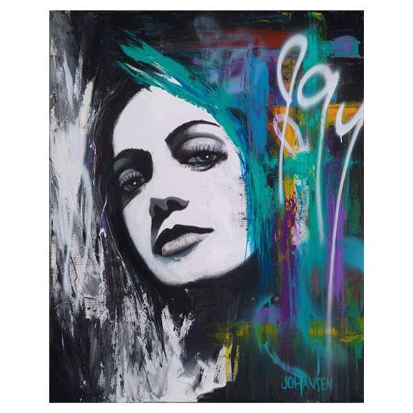 """Johansen """"Simmering"""" Original Mixed Media on Canvas"""