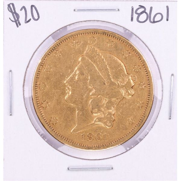 1861 Type 1 $20 Liberty Head Double Eagle Gold Coin