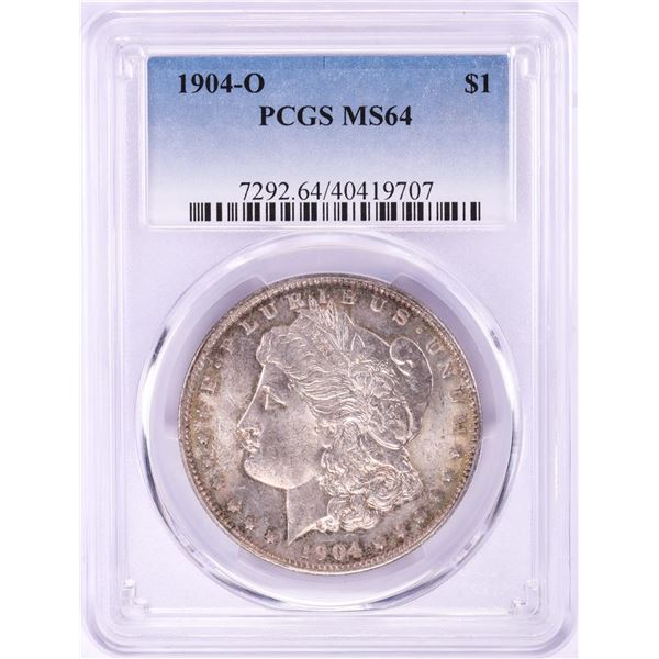 1904-O $1 Morgan Silver Dollar Coin PCGS MS64 Nice Toning