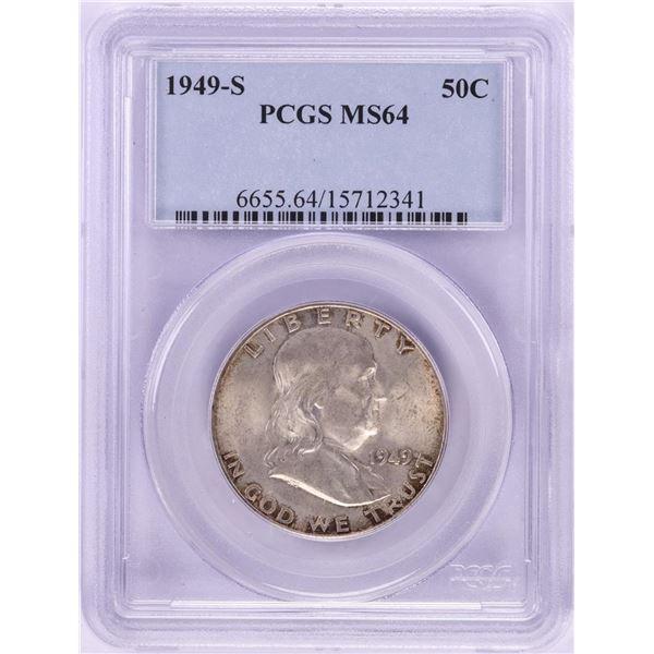 1949-S Franklin Half Dollar Coin PCGS MS64
