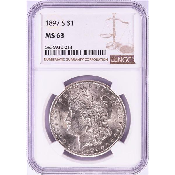 1897-S $1 Morgan Silver Dollar Coin NGC MS63