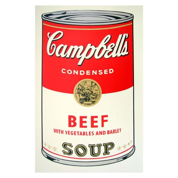 """Andy Warhol """"Soup Can 11.49 (Beef w/Vegetables)"""" Silkscreen"""