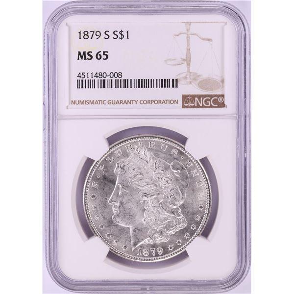 1879-S $1 Morgan Silver Dollar Coin NGC MS65