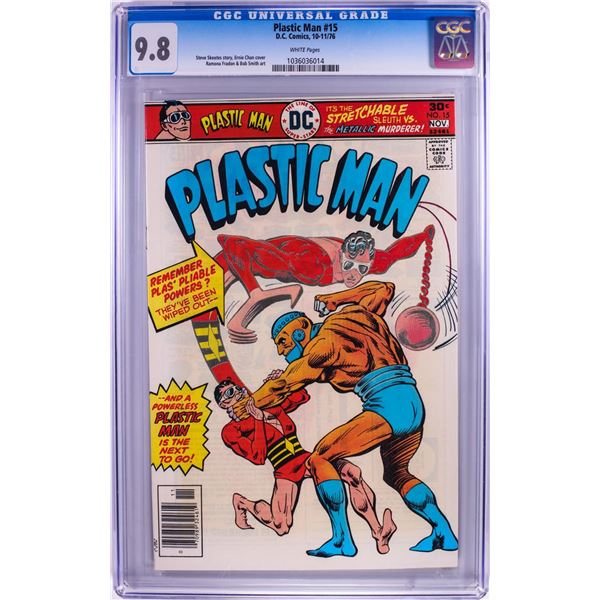 D.C. Comics Plastic Man #15 Comic Book 10-11/76 CGC 9.8