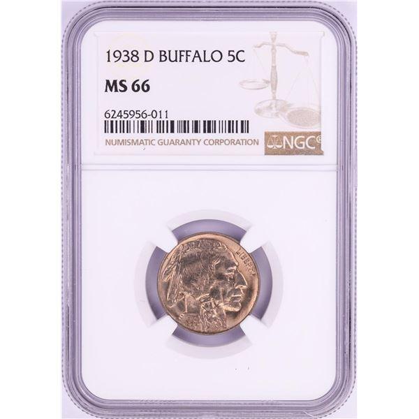 1938-D Buffalo Nickel Coin NGC MS66