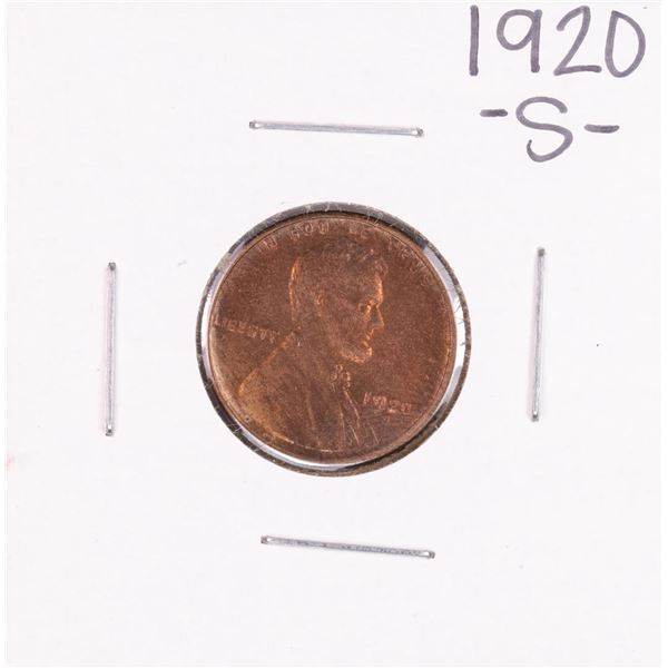 1920-S Lincoln Wheat Cent Coin