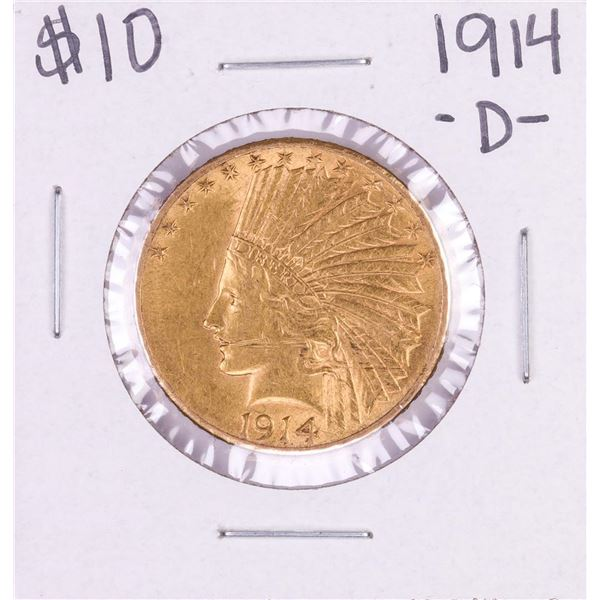 1914-D $10 Indian Head Eagle Gold Coin
