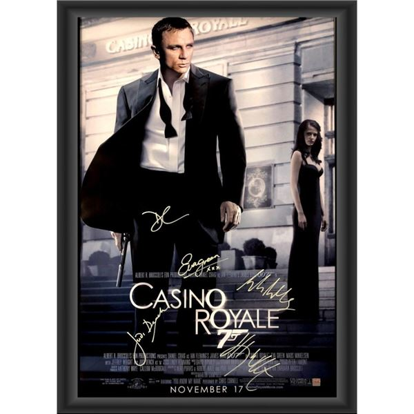 Signed Casino Royale Movie Poster