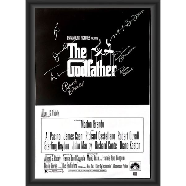 Signed Godfather Movie Poster