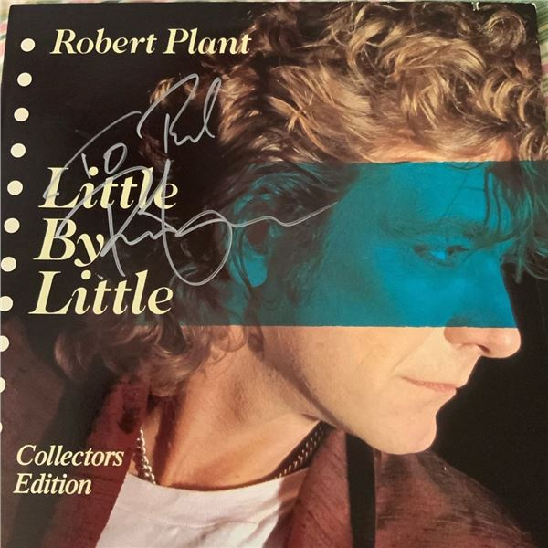 Signed Robert Plant Little by Little Album Cover