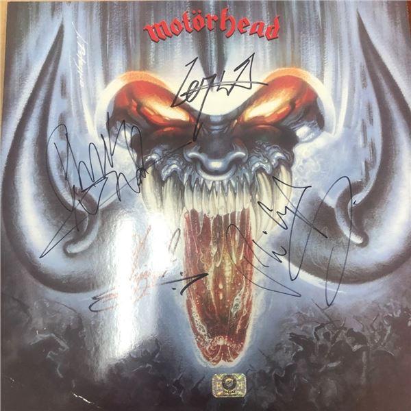 Signed Motorhead Overkill Album Cover