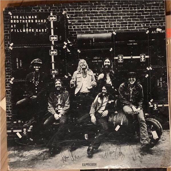 Signed Allman Brothers Live At The Filmore Album Cover