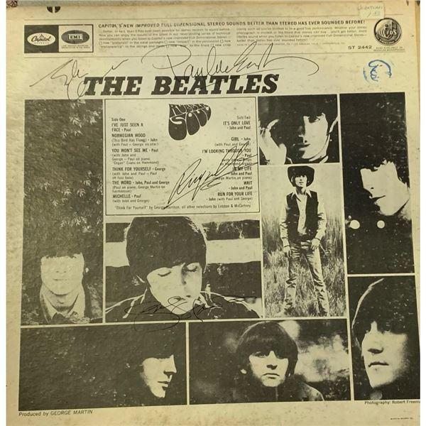 Signed Beatles Rubber Soul Album Cover