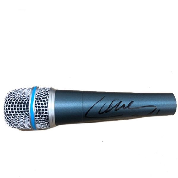 Signed Metallica Lars Ulrich Microphone