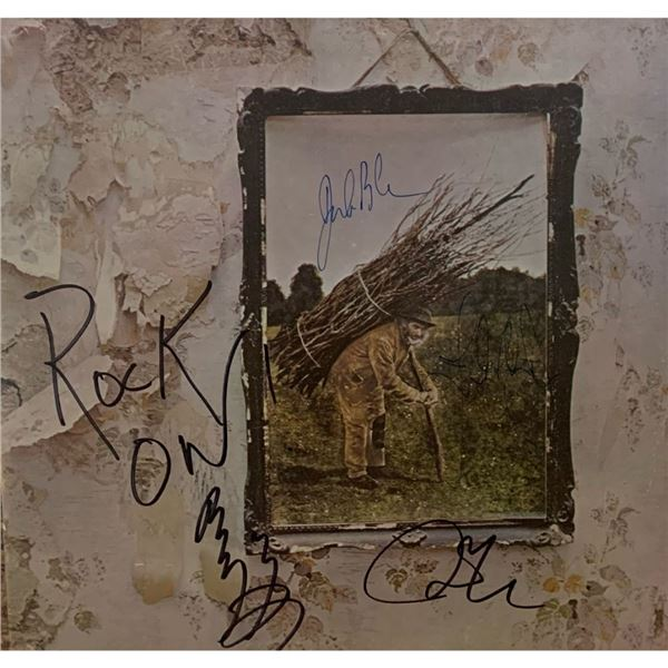 Signed Led Zeppelin IV Album Cover