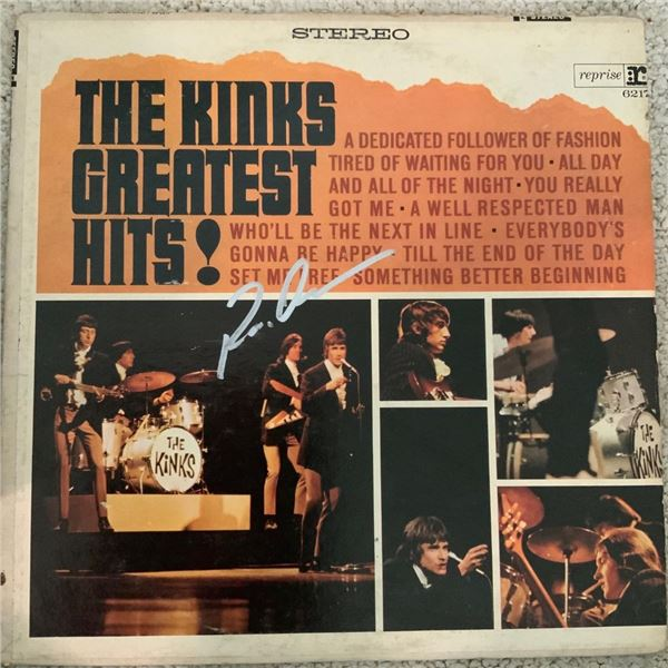 Signed The Kinks Greatest Hits Album Cover
