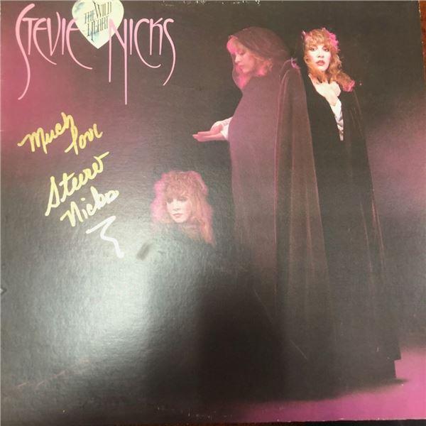 Signed Stevie Nicks The Wild Heart Album Cover