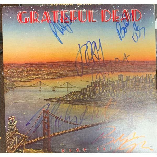 Signed Grateful Dead , Dead Set Album Cover