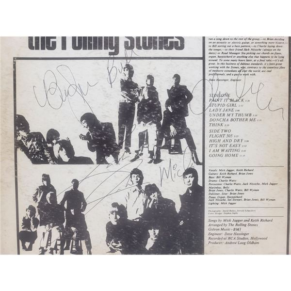 Signed Rolling Stones Aftermath Album