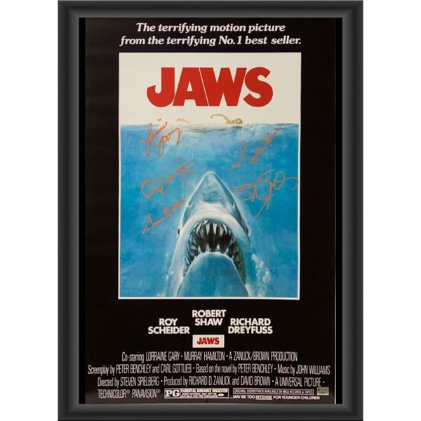 Signed Jaws Movie Poster