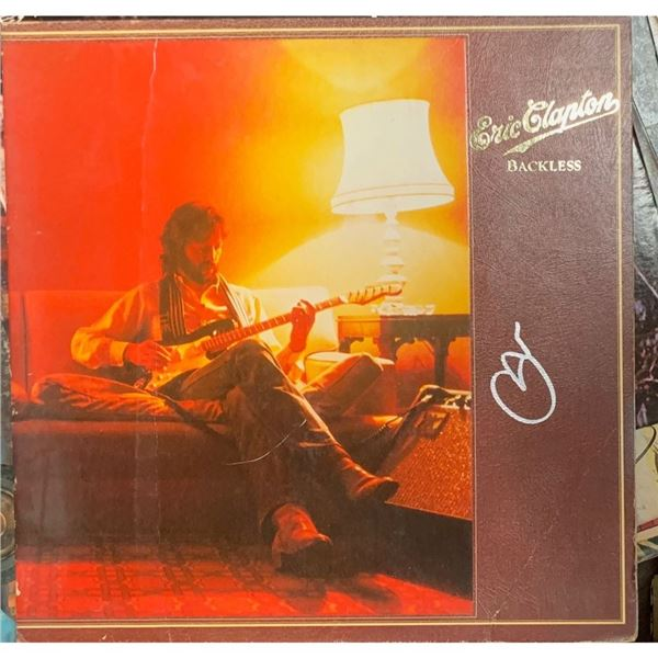 Signed Eric Clapton , Backless Album Cover