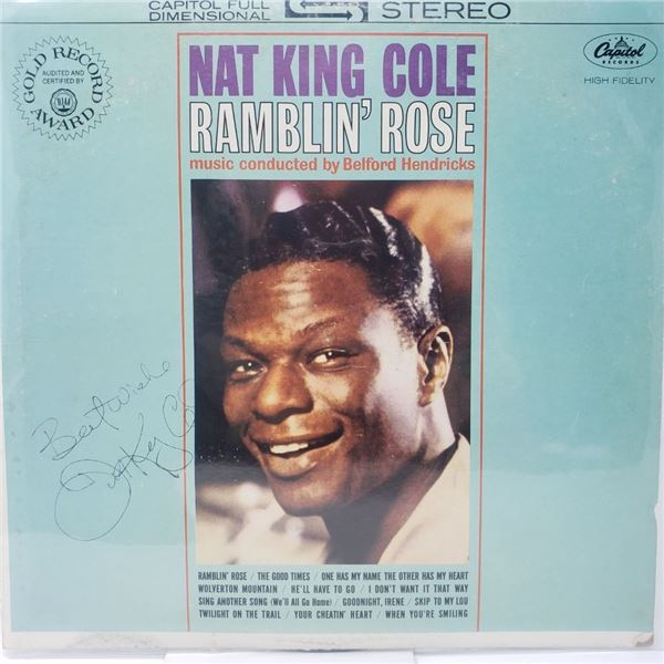 Signed Nat King Cole Signed Ramblin' Rose Album Cover