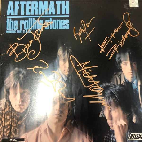 Signed Rolling Stones Aftermath Album Cover