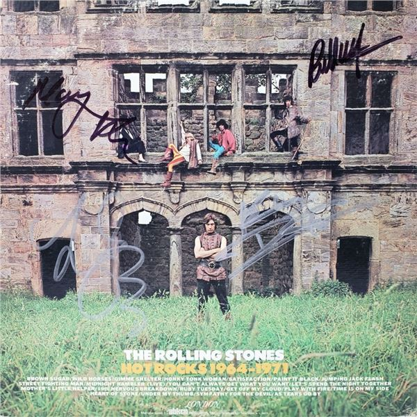 Signed The Rolling Stones, Hot Rocks Album Cover