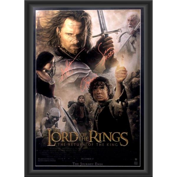 Signed Lord Of The Rings: The Return Of The King Movie Poster