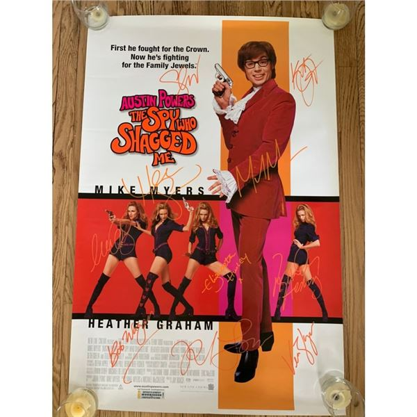 Signed Austin Powers Movie Poster