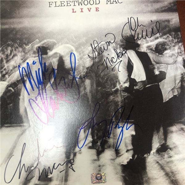 Signed Fleetwood Mac Live Album Cover