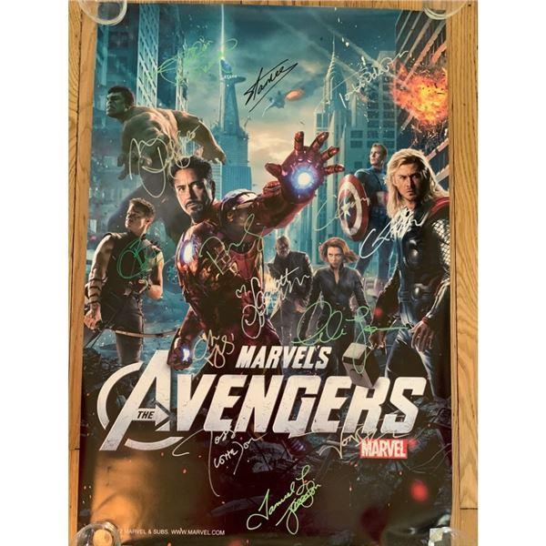 Signed The Avengers Movie Poster