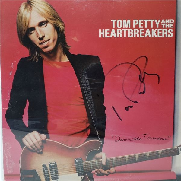 Signed Tom Petty & The Heartbreakers Damn The Torpedoes Album Cover