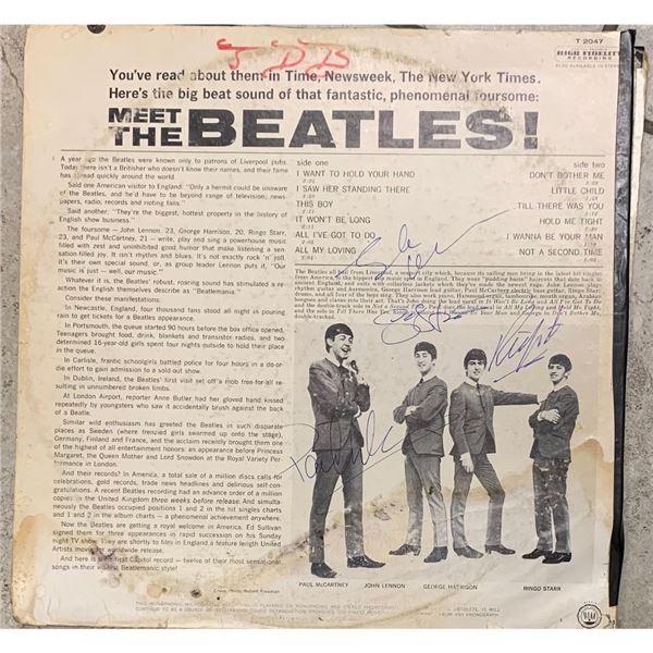 Signed Beatles Meet The Beatles Album Cover