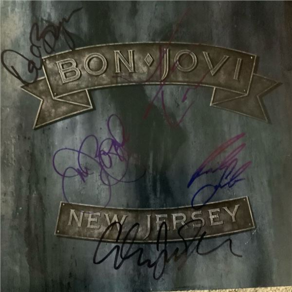 Signed Bon Jovi New Jersey Album Cover
