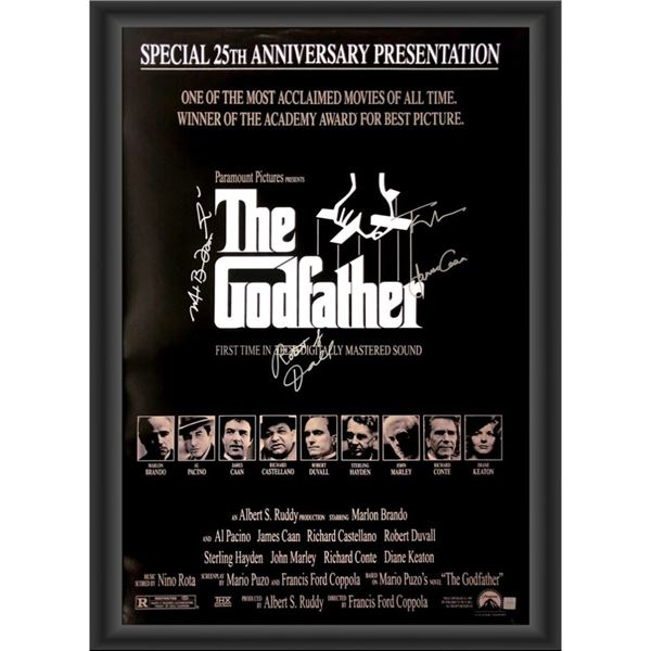 Signed The Godfather 25th Anniversary Presentation Movie Poster