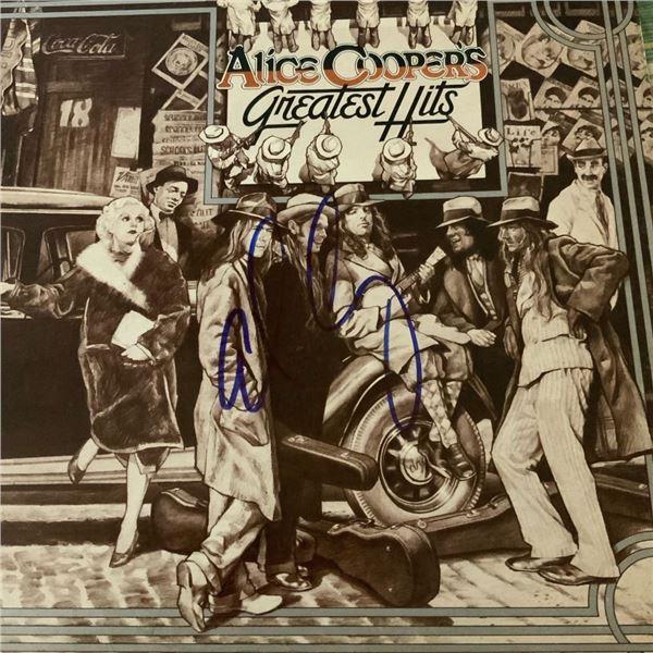 Signed Alice Cooper's Greatest Hits Album Cover