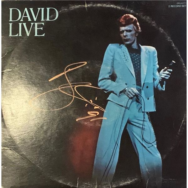 Signed David Bowie Live Album Cover