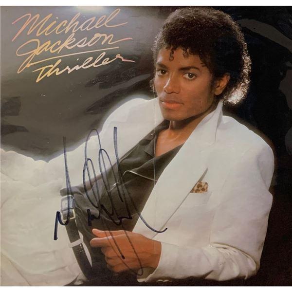 Signed Michael Jackson Thriller Album Cover
