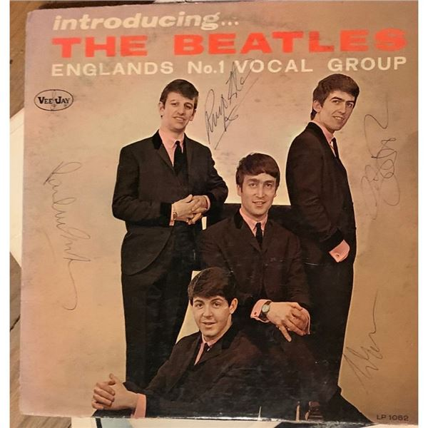 Signed Beatles Introducing The Beatles Album Cover