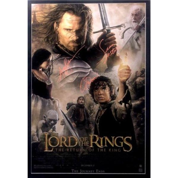 """LORD OF THE RINGS 'THE RETURN OF THE KING"""" SIGNED MOVIE POSTER"""
