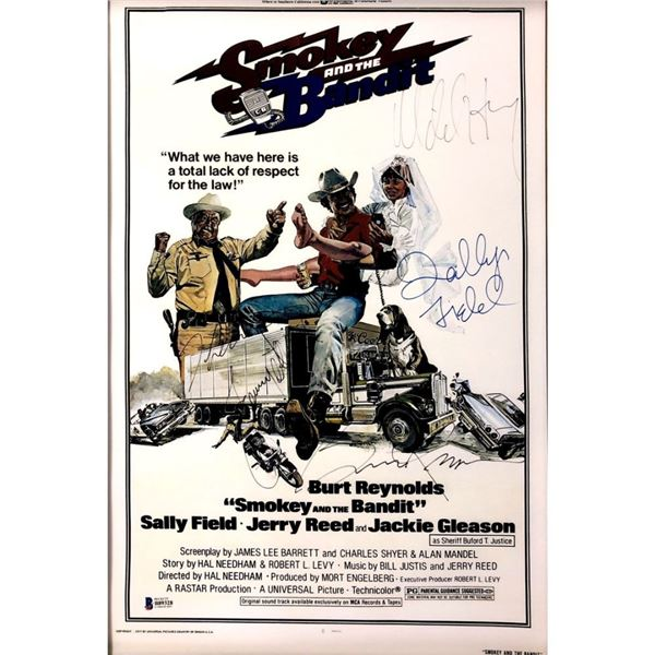 Signed Smokey And The Bandit Movie Poster