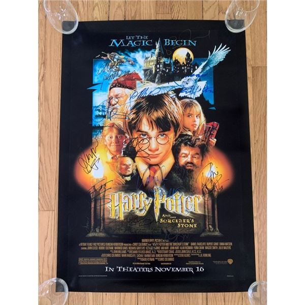 Signed The Sorcerer's Stone Movie Poster