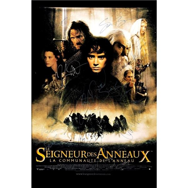 Signed Lord Of The Rings (French) Poster