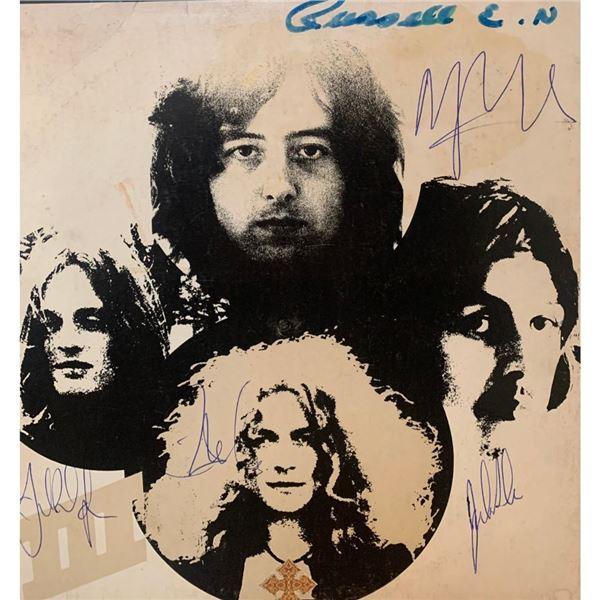 Signed Led Zeppelin III Album Cover