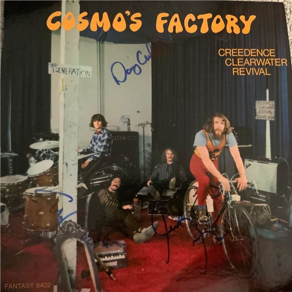 Signed Creedence Clearwater Cosmo's Factory Album Cover