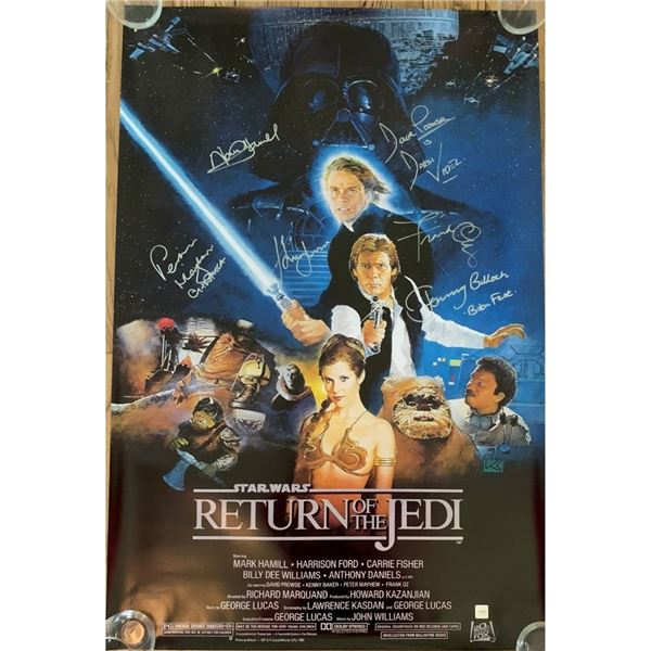Signed The Return Of The Jedi Movie Poster