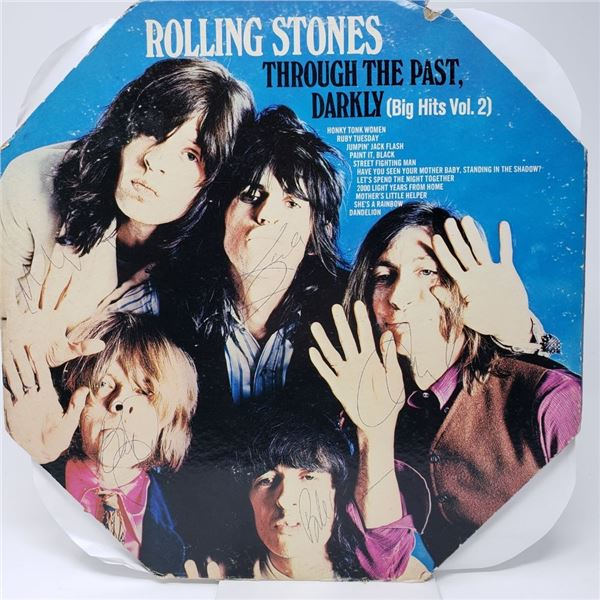 Signed The Rolling Stones, Through The Past Darkly Album Cover