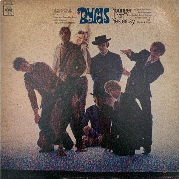 Signed Byrds Younger Than Yesterday Album Cover